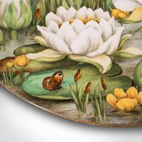 Antique Decorative Charger Plate, English, Ceramic, Dish, Art Nouveau, Victorian (8 of 12)