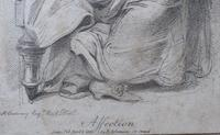 "Richard Cosway 1802 Aqua Tint Stipple Engraving ""Affection"" (4 of 7)"