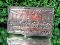 Rare French F Morel Solid Silver Last Supper Scense Lud Snuff Box (16 of 18)