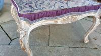 Stylish 19th Century French Upholstered Stool (6 of 6)