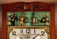 Italian Interest Automaton Large Oak Signed Odo Striking Wall Clock (2 of 11)