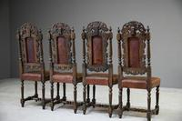 4 Carved Oak Dining Chairs (8 of 13)