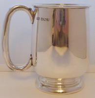 Viners 1960 Half 1/2 Pint Hallmarked Solid Silver Tankard Christening Mug 194g (3 of 10)