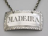 George II Silver Wine Label 'Madeira' by Richard Binley, London c.1760 (4 of 7)