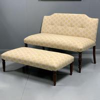 Regency window seat and matching stool (7 of 9)