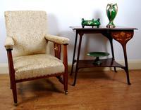 Edwardian Art Nouveau Inlaid Armchair (7 of 8)