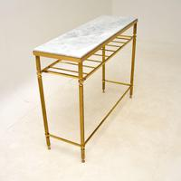 Vintage French Brass & Marble Console Table (3 of 8)