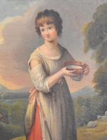 Superb Georgian Oil Painting 'Lavinia' After Gainsborough (4 of 5)