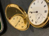 18ct Full Hunter Pocket Watch by Rotherham's of London (5 of 12)