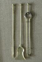 Set of Aesthetic Movement Brass Fire Irons Poker Tongs Shovel c.1880