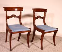 Two Regency Mahogany Chairs Circa 1800 (6 of 8)