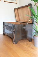 Chinese relief carved camphorwood coffer with an ebonised finish (7 of 23)