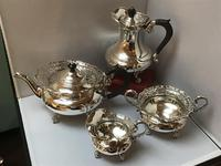 Solid Silver Edwardian Tea Set (3 of 9)