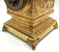 Good French Ormolu Cubed Classic 8 Day Striking Mantle Clock (6 of 11)