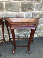 Pair of Oriental Chinese Marble Top Console Tables (3 of 12)