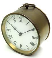 French Drum Carriage Clock Rare Enamel Dial Drum Case Mantel Clock Platform Balance (4 of 8)
