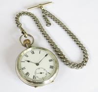 Antique Valmor Pocket Watch & Chain (2 of 6)