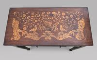 Dutch 19th Century Marquetry Card Table (3 of 6)
