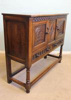 Antique Carved Oak Cupboard Side Table (10 of 14)