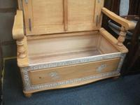 Painted Carved Bench with Under Storage (2 of 2)