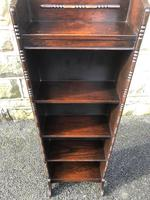 Antique Slim Oak Open Bookcase (3 of 7)