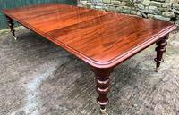 Very Large Victorian Mahogany Extending Dining Table