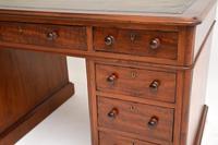 Antique Victorian Mahogany Leather Top Pedestal Desk (9 of 12)