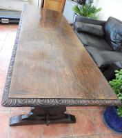 Country Oak Tefectory Table 7 foot long 1880 (3 of 10)