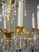 Edwardian Gilded and Glass Chandelier (4 of 13)