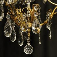 French Gilded Birdcage Antique Chandelier (6 of 7)