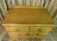 Petite Pine Chest of Drawers from the 1920s (3 of 8)
