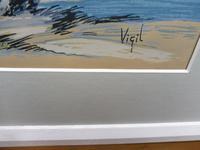 Watercolour & Ink Study of Stallions Artist Vigil (2 of 10)