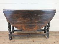 Antique Oak Drop Leaf Table (11 of 11)