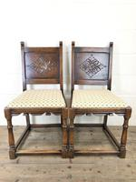 Set of Six Early 20th Century Antique Oak Dining Chairs (3 of 12)