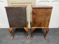 Pair of Burr Walnut Queen Anne Bedside Cupboards (8 of 15)