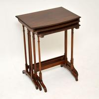Antique Mahogany Nest of  Tables (9 of 10)