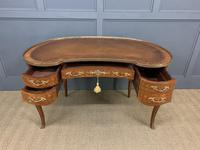French Kingwood Parquetry Kidney Shaped Desk (10 of 19)