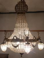20th Century French Stags Head Ornate Chandelier (6 of 13)