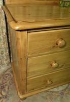 Small Edwardian Pine Chest of Drawers Stripped & Bees-waxed (5 of 9)