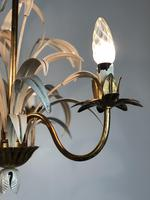Vintage French 3 Arm Petite Toleware Ceiling Light Chandelier (8 of 11)