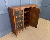 Burr Walnut Bookcase/Side Cabinet (4 of 15)