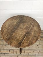 Antique Georgian Oak Tilt Top Table (4 of 10)