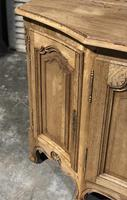 Bow Front French Bleached Oak Enfilade (10 of 11)