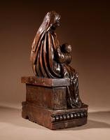 Charming Maria Lactans Sculpture Continental Early 18th Century (8 of 14)