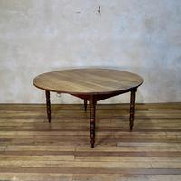 19th Century French Chestnut Circular Drop Leaf Table (2 of 10)