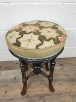 Antique Victorian Walnut Piano Stool with Adjustable Height (2 of 11)