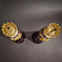 Pair of Purple Victorian Lamps (3 of 5)