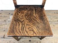 Set of Four Victorian Elm Chapel Chairs (5 of 7)