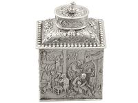 Sterling Silver Tea Caddy - George V 1925 (15 of 15)