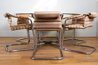 Pieff Glass Chrome Dining Table & 6 Chairs Late 1970s (8 of 14)